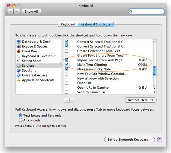 Snow Leopard Keyboard System Preferences Pane